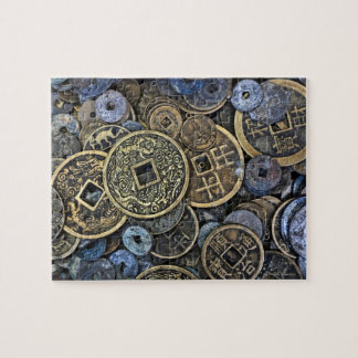 Close up of Vietnamese coins Jigsaw Puzzle