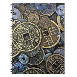 Close up of Vietnamese coins Note Book