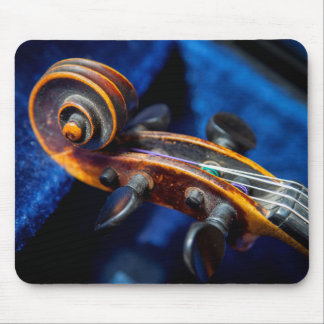 Close-Up Of Violin In Its Case Mouse Pad