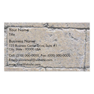 Close-Up of Weathered Stone Brick Wall Business Card