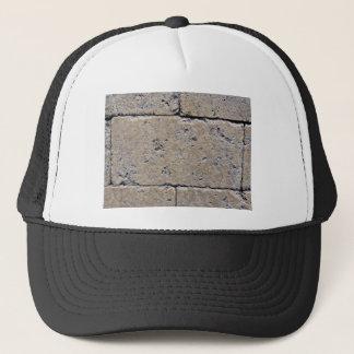 Close-Up of Weathered Stone Brick Wall Trucker Hat