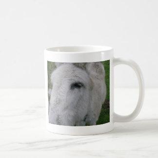 Close Up Of White Mule Coffee Mug