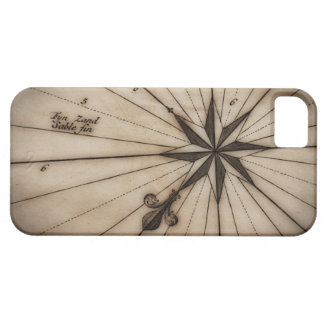Close up of wind rose on antique map iPhone SE/5/5s case