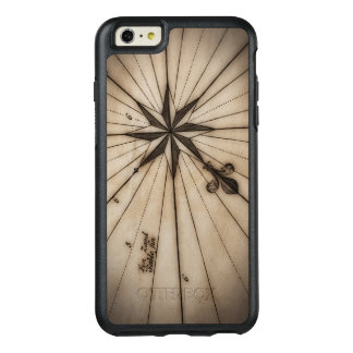 Close up of wind rose on antique map OtterBox iPhone 6/6s plus case