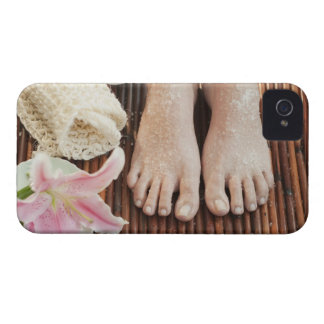 Close-up of womans feet having spa treatment iPhone 4 case
