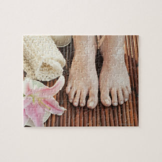 Close-up of womans feet having spa treatment jigsaw puzzle