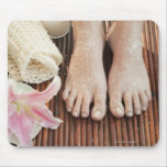 Close-up of womans feet having spa treatment mouse pad