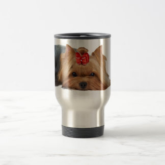 Close-up of Yorkshire terrier's muzzle Travel Mug