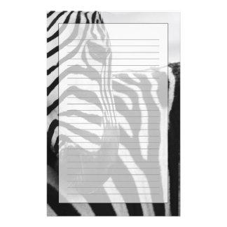 Close-up of zebra face and shoulder stationery