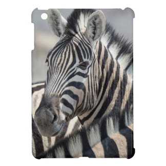 Close-up of zebra head between two other zebras iPad mini cases