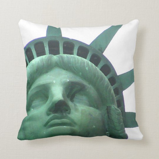 Close Up Oil Effect Statue of Liberty Pillow
