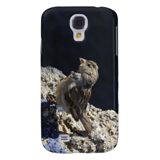 Close-up on a little sparrow on a rock samsung galaxy s4 cover