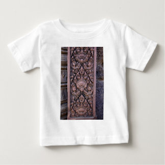 Close-up on an engraved red stone in Angkor Baby T-Shirt