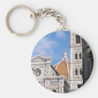 Close up on Florence. Basic Round Button Keychain