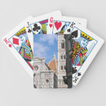 Close up on Florence. Bicycle Poker Cards