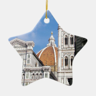 Close up on Florence. Ceramic Ornament