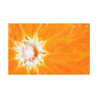 Close up orange slice canvas