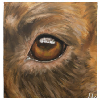 Close-Up Painting of Pit Bull's Eye Cloth Napkin
