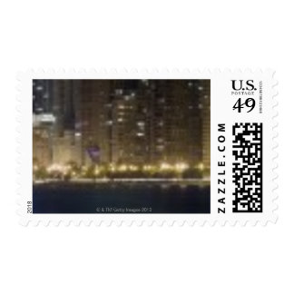 Close-up panoramic view of the Chicago lakefront 2 Postage
