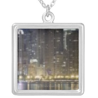 Close-up panoramic view of the northern section 2 square pendant necklace