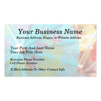 Close Up - Paper Parasol Double-Sided Standard Business Cards (Pack Of 100)