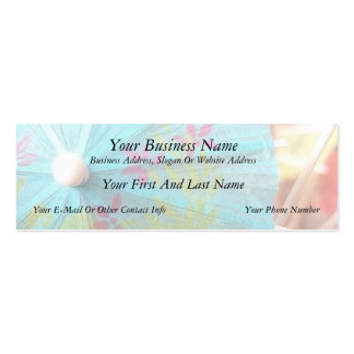 Close Up - Paper Parasol Double-Sided Mini Business Cards (Pack Of 20)