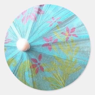Close Up - Paper Parasol Classic Round Sticker