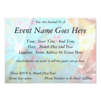 Close Up - Paper Parasol 5x7 Paper Invitation Card