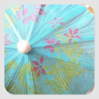 Close Up - Paper Parasol Square Sticker