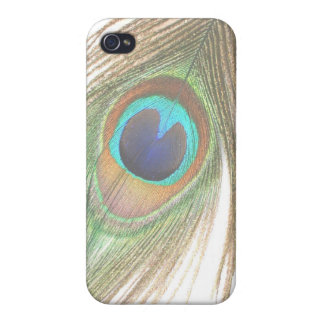 Close Up Peacock Feather Case For iPhone 4