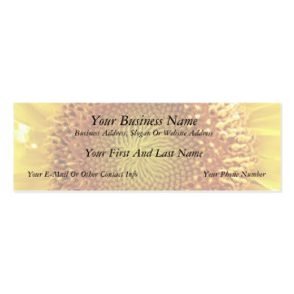 Close Up Peek into the Face of a Sunflower Business Card Template