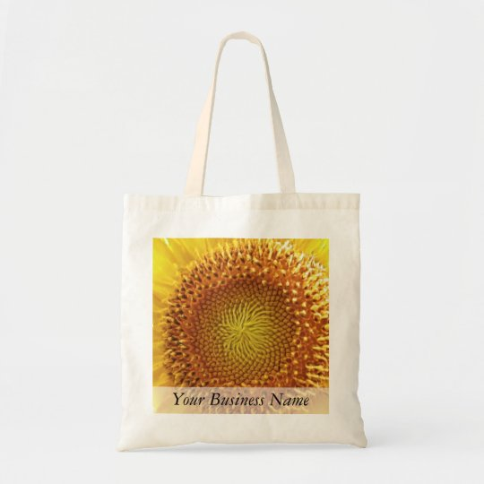 Close Up Peek into the Face of a Sunflower Tote Bag
