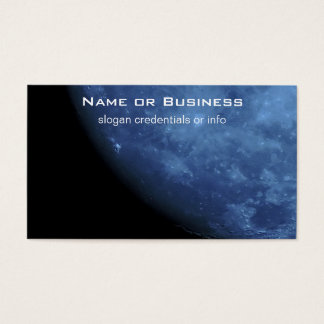 Close Up Photo Full Moon in Blue Business Card