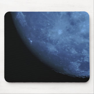 Close Up Photo Full Moon in Blue Mouse Pad