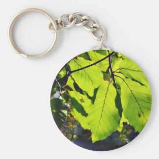 Close Up Photo Of Beech Leaves Keychains