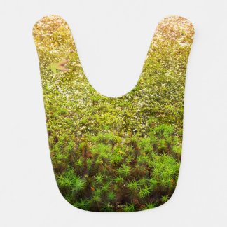 Close-up Photo of Green Haircap Moss Baby Bib