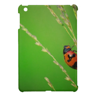 close up photo of ladybird with natural green back cover for the iPad mini