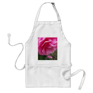 Close-up Pink Flower Pink Camillia Adult Apron