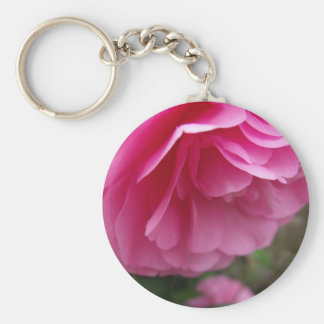 Close-up Pink Flower Pink Camillia Keychain