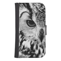 Close Up Portrait Of Eurasian Eagle-owl Galaxy S4 Wallet Case