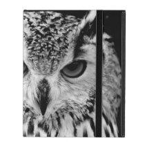 Close Up Portrait Of Eurasian Eagle-owl iPad Cover