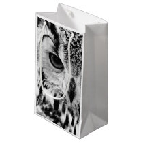 Close Up Portrait Of Eurasian Eagle-owl Small Gift Bag