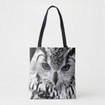 Close Up Portrait Of Eurasian Eagle-owl Tote Bag