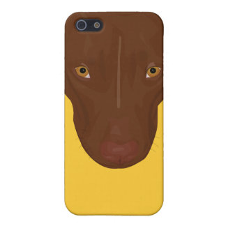 Close Up Portrait of Pit Bull - Digital Art Case For iPhone SE/5/5s