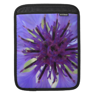 Close up Purple Bachelor Button Sleeve For iPads