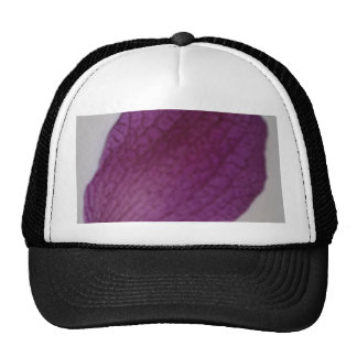 Close Up Purple Orchid Petal Trucker Hat