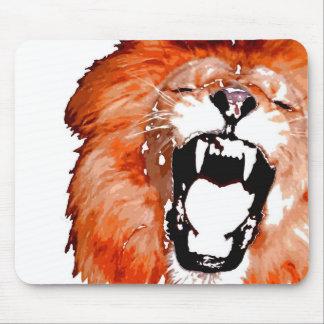Close-up Roaring Lion Artwork Mouse Pad