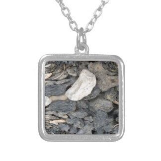 Close Up Stones Abstract Silver Plated Necklace