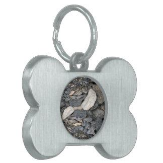 Close Up Stones Fractal Pet ID Tag