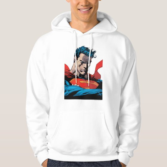 Close up to face hoodie